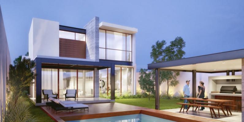 GeoBienes - Mocolí Gardens Exclusive 44-3 - Plusvalia Guayaquil Casas de venta y alquiler Inmobiliaria Ecuador