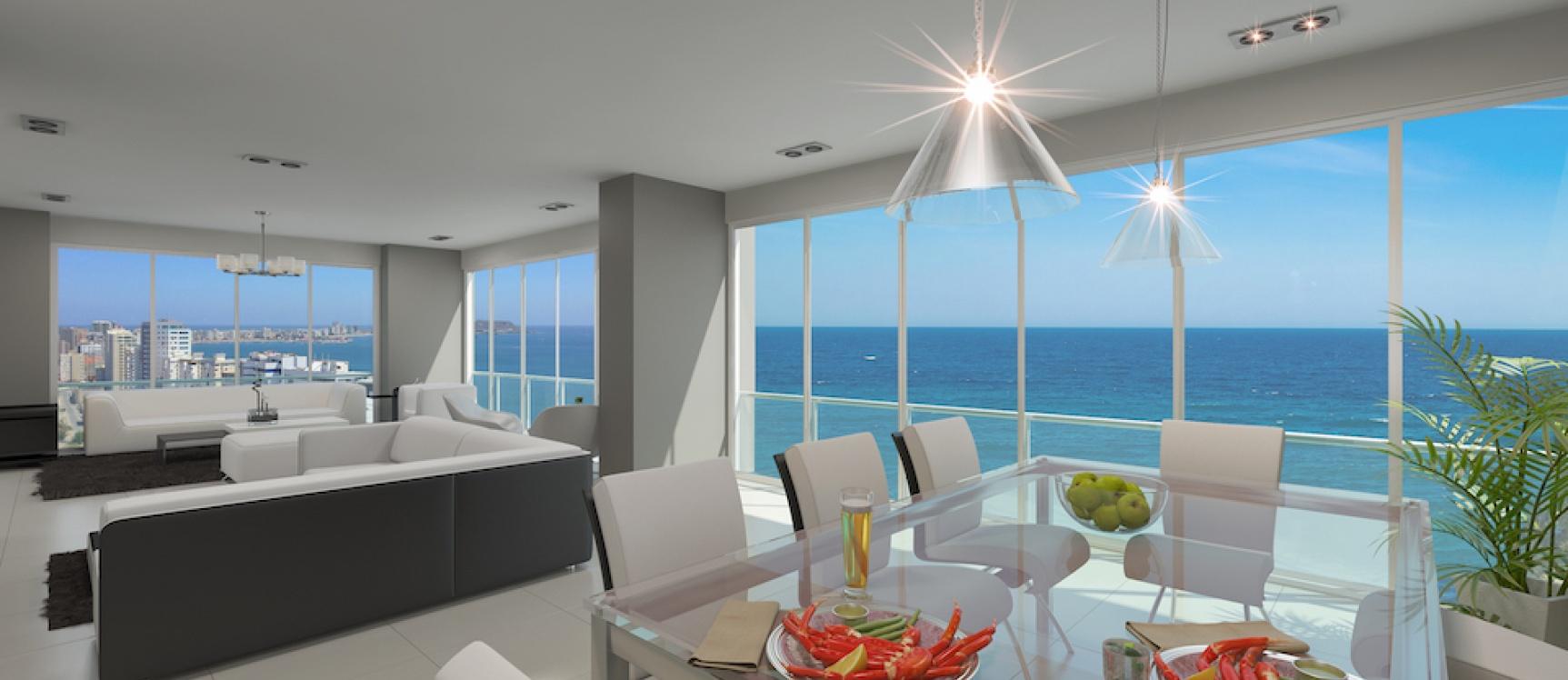 GeoBienes - Departamento de 4 dormitorios frente al mar - Plusvalia Guayaquil Casas de venta y alquiler Inmobiliaria Ecuador