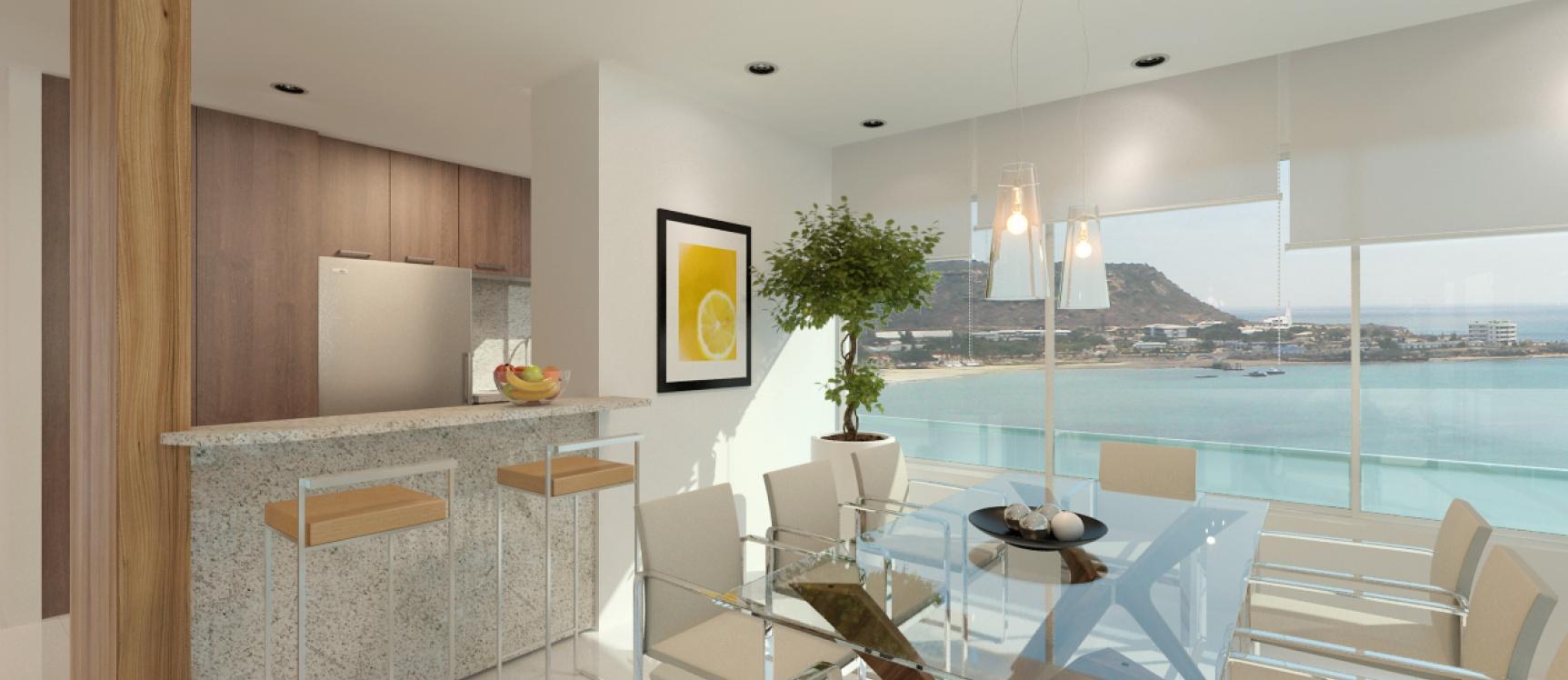 GeoBienes - Departamento en venta en Salinas de 3 dormitorios  y esquinero frente a la playa de Chipipe - Plusvalia Guayaquil Casas de venta y alquiler Inmobiliaria Ecuador