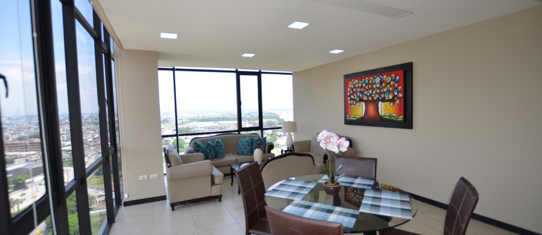 GeoBienes - Departamento en alquiler Edificio Bellini IV centro de Guayaquil - Plusvalia Guayaquil Casas de venta y alquiler Inmobiliaria Ecuador