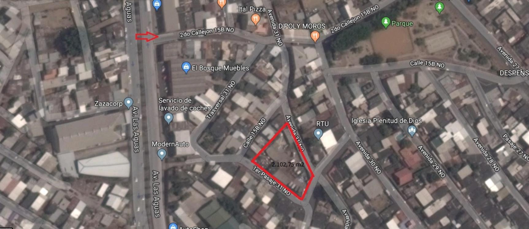 GeoBienes - Terreno en venta en Urdenor sector norte  - Plusvalia Guayaquil Casas de venta y alquiler Inmobiliaria Ecuador