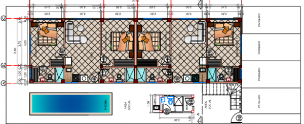Departamentos dos dormitorios - 49,50 m2 mas parqueo de 11,50 m2