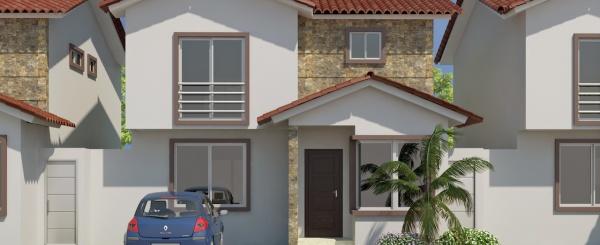 Modelo B casa en venta con 3 dormitorios en Costa Real Guayaquil