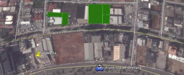 Terreno en alquiler 365 m2 Norte de Guayaquil sector Kennedy Norte