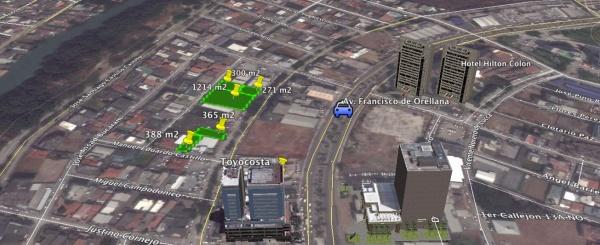 Terrenos en alquiler en el Norte de Guayaquil 388 m2 sector Kennedy Norte